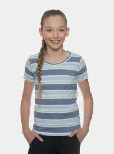 Modré dievčenské pruhované tričko SAM 73