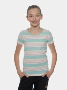 Svetlozelené dievčenské pruhované tričko SAM 73