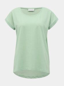 Svetlozelené basic tričko VILA Deramers