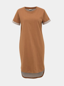 Hnedé mikinové basic šaty Jacqueline de Yong Ivy