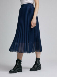 Tmavomodrá plisovaná sukňa Dorothy Perkins