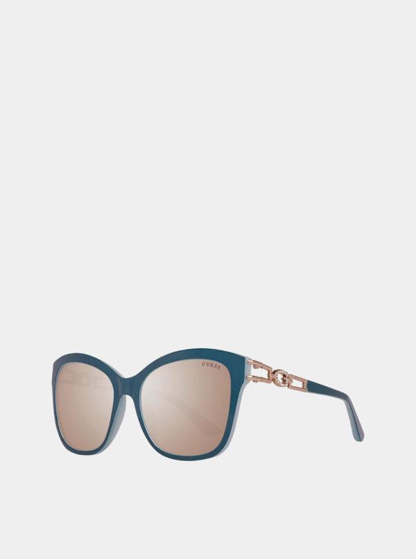 Petrolejové dámske slnečné okuliare Guess