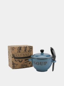 Modrá keramická miska na polievku CGB