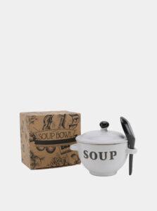 Krémová keramická miska na polievku CGB