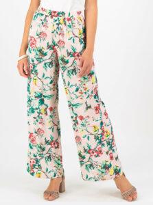Svetloružové kvetované nohavice Blutsgeschwister