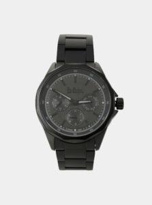 Pánske hodinky s čiernym nerezovým remienkom Lee Cooper