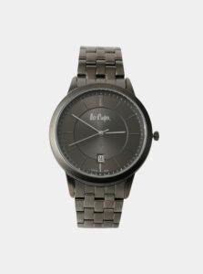 Pánske hodinky s tmavošedým nerezovým remienkom Lee Cooper