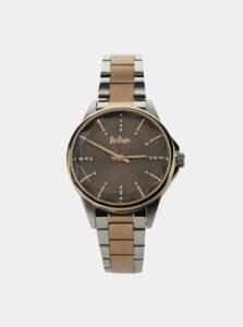 Dámske hodinky s nerezovým remienkom v striebornej a ružovozlatej farbe Lee Cooper