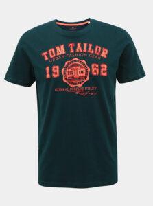 Petrolejové pánske tričko s potlačou Tom Tailor