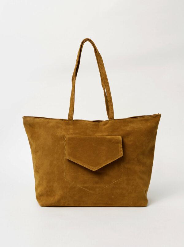 Hnedá kabelka v semišovej úprave Haily´s Shoppy