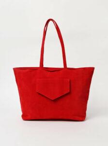 Červená kabelka v semišovej úprave Haily´s Shoppy