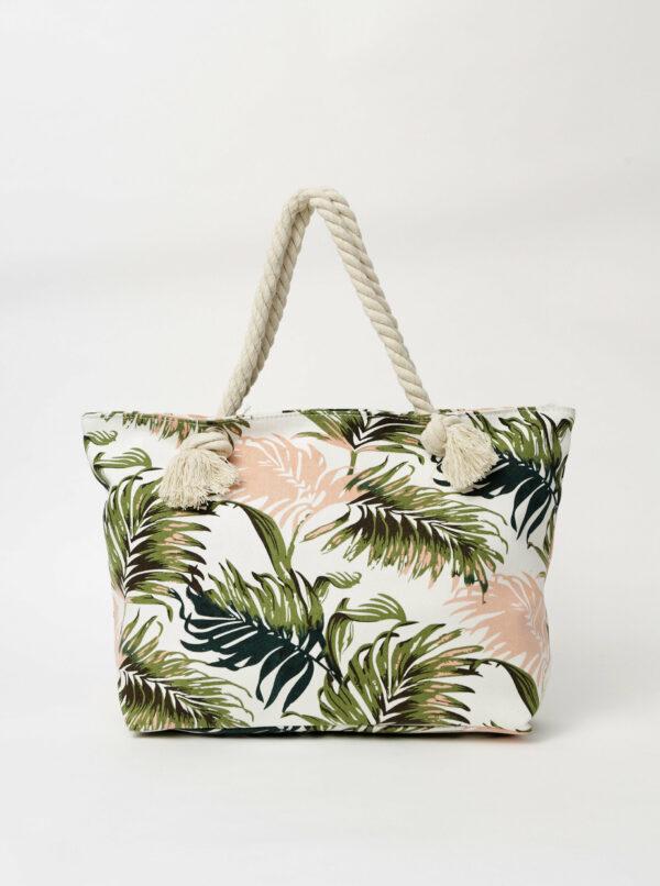 Biela dámska vzorovaná plážová taška Haily´s Summer Vibes