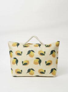 Béžová dámska vzorovaná plážová taška Haily´s Tessa
