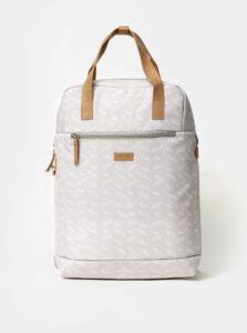 Svetlošedý dámsky vzorovaný batoh LOAP Reina 15 l