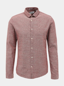 Ružová slim fit košeľa Lindbergh