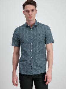 Tmavomodrá vzorovaná slim fit košeľa Lindbergh