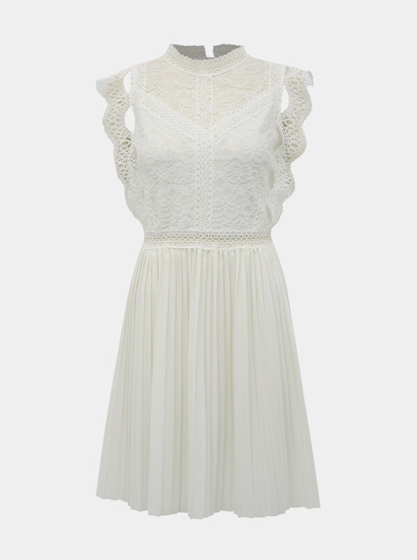 Biele šaty s krajkou Haily´s Letzia