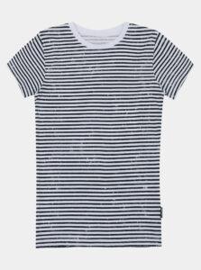 Čierno-biele detské pruhované tričko SAM 73