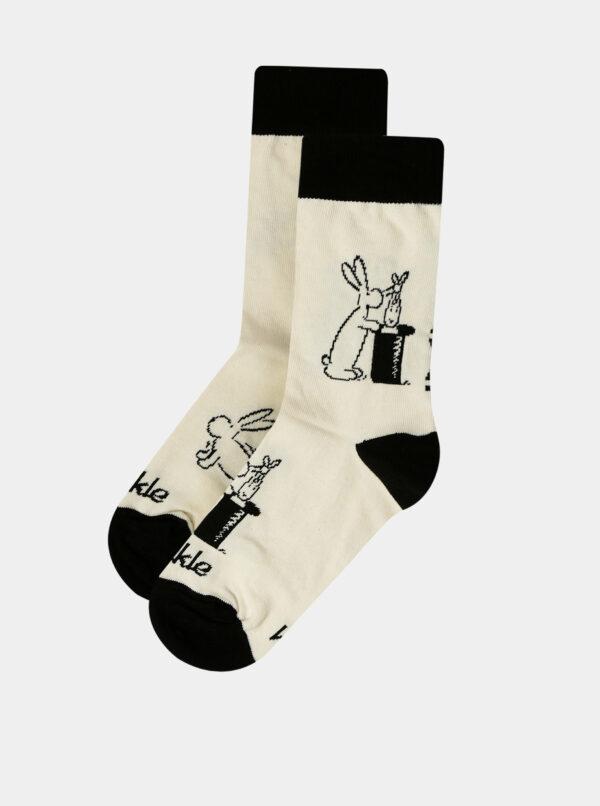 Krémové detské vzorované ponožky Fusakle Bob a Bobek