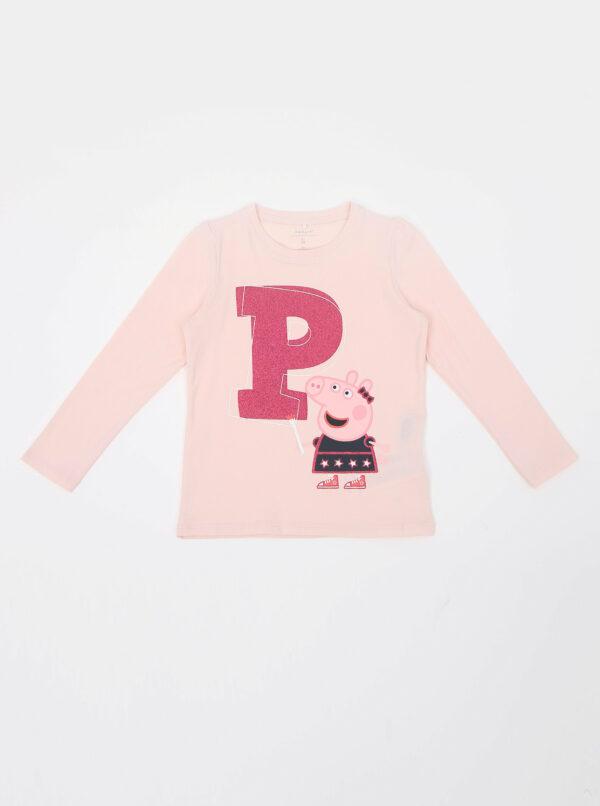 Ružové dievčenské tričko s potlačou name it Peppa Pig