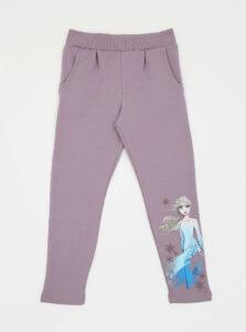 Svetlofialové dievčenské tepláky s potlačou name it Frozen Melody