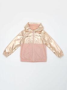 Ružová dievčenská ľahká bunda s metalickými odleskami name it Mai