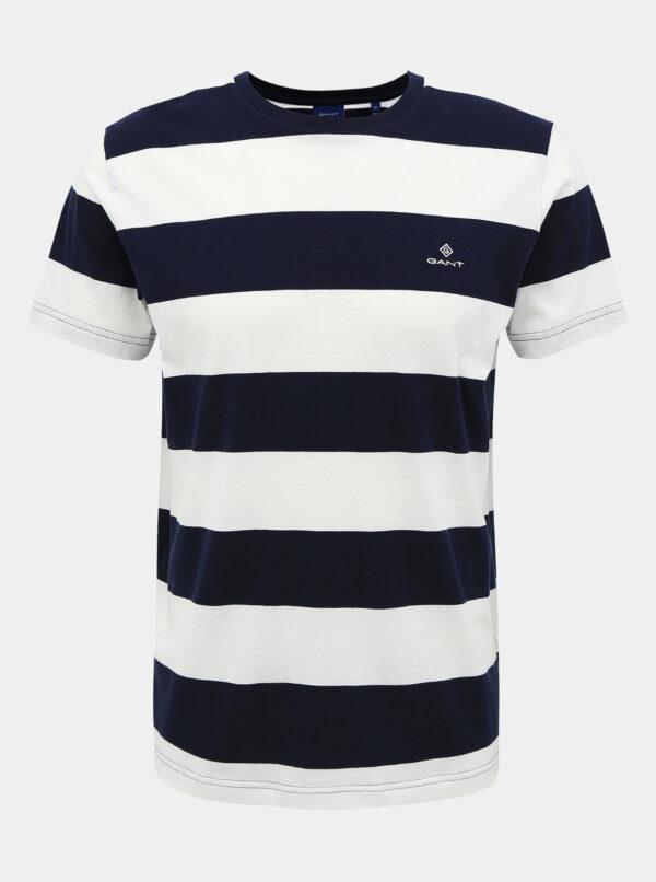 Bielo-modré pánske pruhované basic tričko GANT