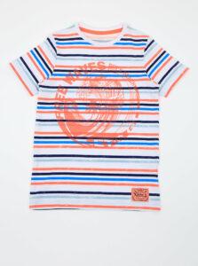 Oranžovo-biele chlapčenské pruhované tričko name it Fonzo