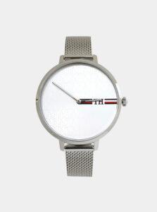 Dámske hodinky s kovovým remienkom v striebornej farbe Tommy Hilfiger