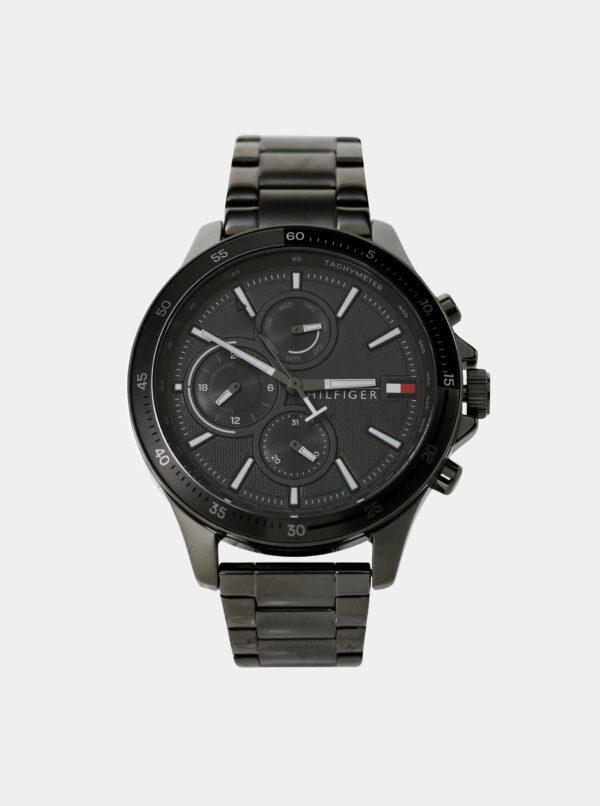 Pánske hodinky s oceľovým remienkom v striebornej farbe Tommy Hilfiger