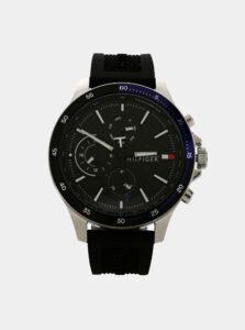 Pánske hodinky s čiernym silikónovým remienkom Tommy Hilfiger