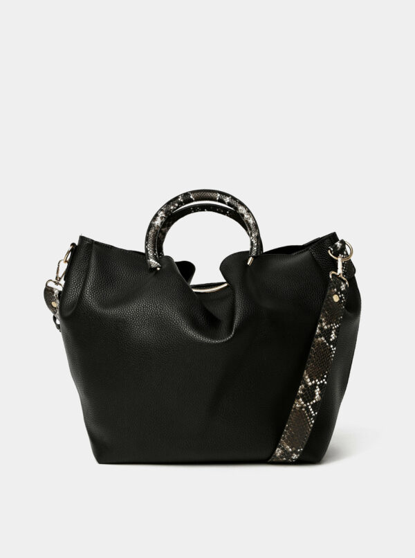 Čierna kabelka Pieces Alicia