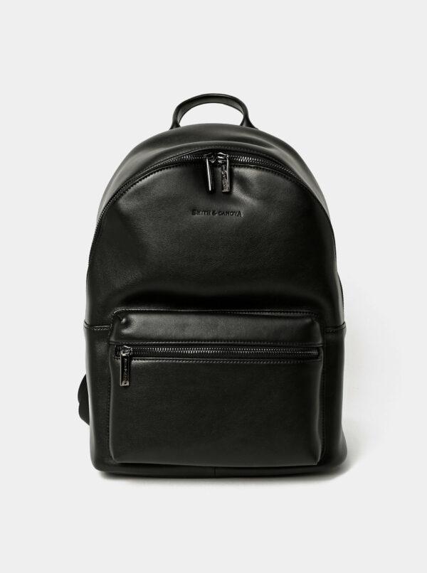 Čierny kožený batoh Smith & Canova Around