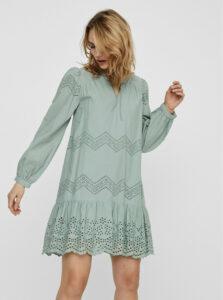 Svetlozelené šaty s madeirou VERO MODA Olivia