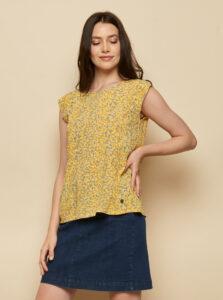 Žltá kvetovaná blúzka Tranquillo Almaz