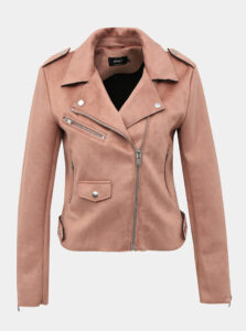Ružová koženková bunda ONLY Sherry