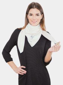 Biela dámska šatka Versace 19.69