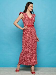 Červené kvetované maxišaty Tranquillo Fiefie