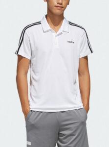 Biela pánska polokošeľa adidas CORE