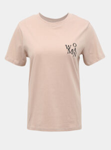 Béžové tričko Jacqueline de Yong Best Treats