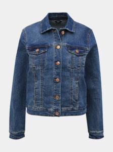 Modrá rifľová bunda M&Co