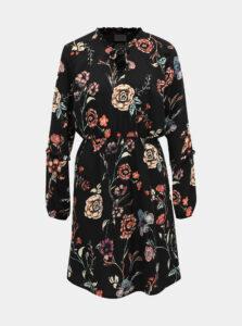 Čierne kvetované šaty Jacqueline de Yong Ruby