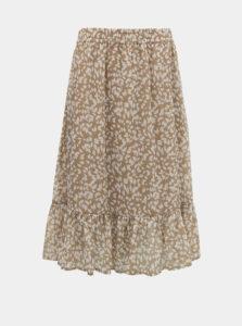 Béžová vzorovaná sukňa Jacqueline de Yong Rufus