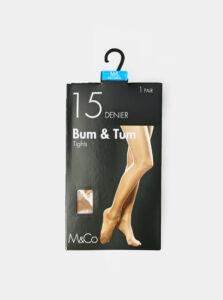 Telové pančuchové nohavice M&Co 15 DEN