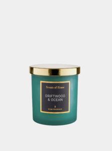 Modrá sviečka s vôňou dreva a oceánu BUTLERS