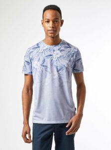 Modré vzorované tričko Burton Menswear London
