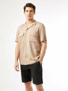 Béžová košeľa Burton Menswear London