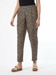Béžové vzorované nohavice Dorothy Perkins