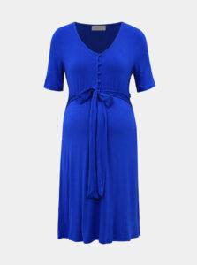 Modré tehotenské/dojčiace šaty Mama.licious Adrianna