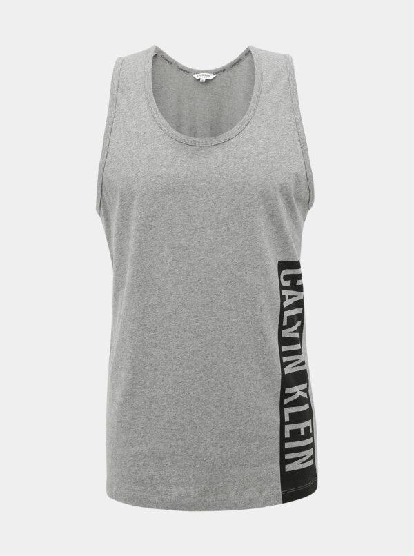 Šedé pánske tielko s potlačou Calvin Klein Underwear
